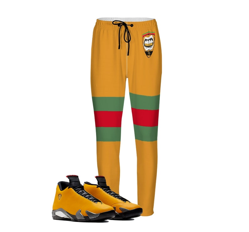 lowest price c0923 5c426 Ferrari Joggers | Retro Jordan 14 Reverse Colorblock | jogging pants |  Designed to Match Air Jordan XIV Sneaker flight