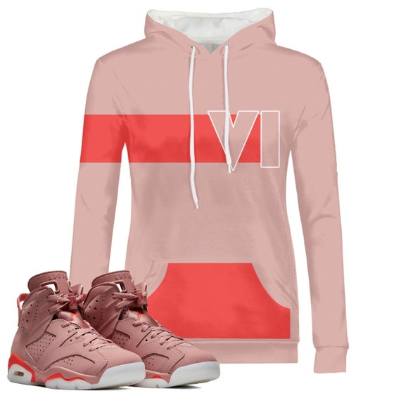 super popular c41e0 cb9a9 Women's | Stripe | Retro millennial pink Aleali May Jordan 6 Colorblock  Hoodie | Pullover | Designed to Match Air Jordan 6 Sneakers