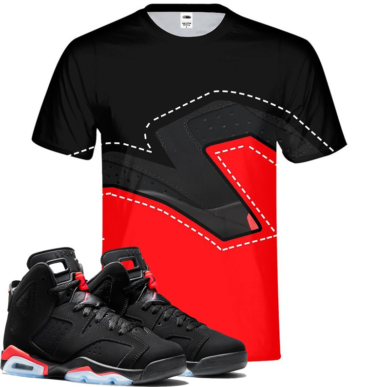 14f22005a0f1 Infrared Retro Jordan 6 Colorblock tee tshirt Designed