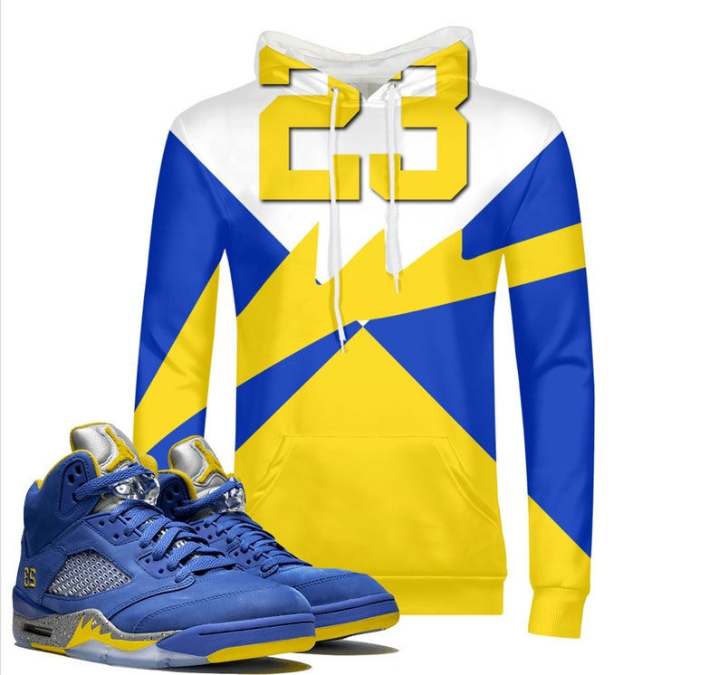 685651b4640ae7 Edge Retro Laney Jordan 5 Colorblock Hoodie Pullover