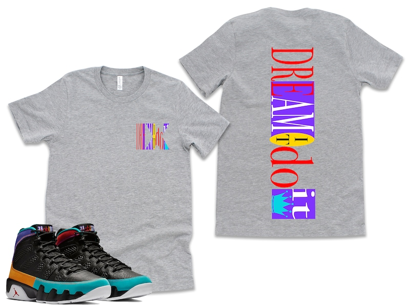 be87a16c5720ae FB Dream It Do It Retro Jordan 9 Colorblock Tee T-shirt