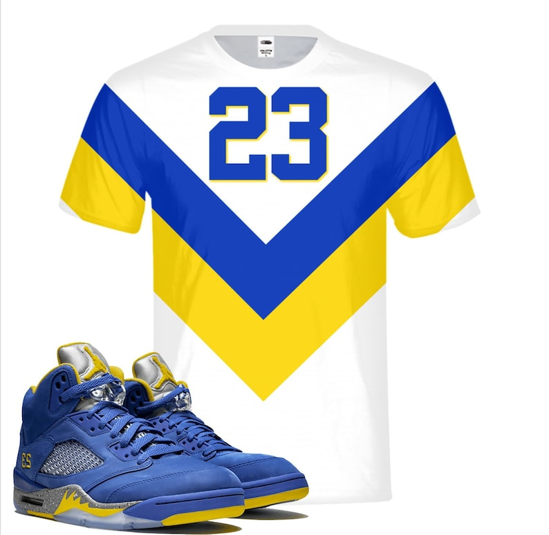 4707acc3a89070 Tribe Retro Laney Jordan 5 Colorblock T-shirt Tee All