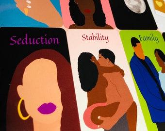 Melanin & Romance Love Oracle Deck by Queen Sugar Tarot