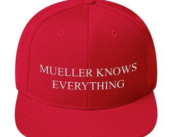 e0f54e913fb9b Mueller Knows Everything Snapback Hat