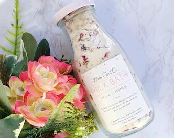 Milk Bath - Valentine's Day bath - Natural Milk Bath - Natural Bath Products - Valentine's Day Gifts - Gifts for her - Self Care Gifts