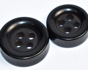 Black /& White Marble Effect Buttons 26mm x 7 Pieces