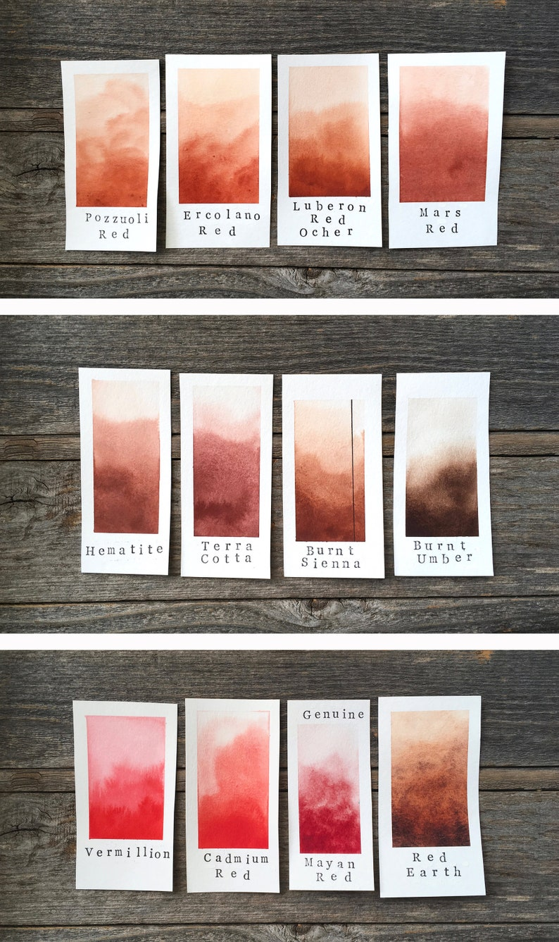 Calligraphy and Lettering Burnt Sienna Handmade Watercolor for Painting