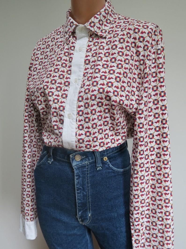 Vintage 1990/'s Dolce and Gabbana Cotton Nautical Pattern Shirt