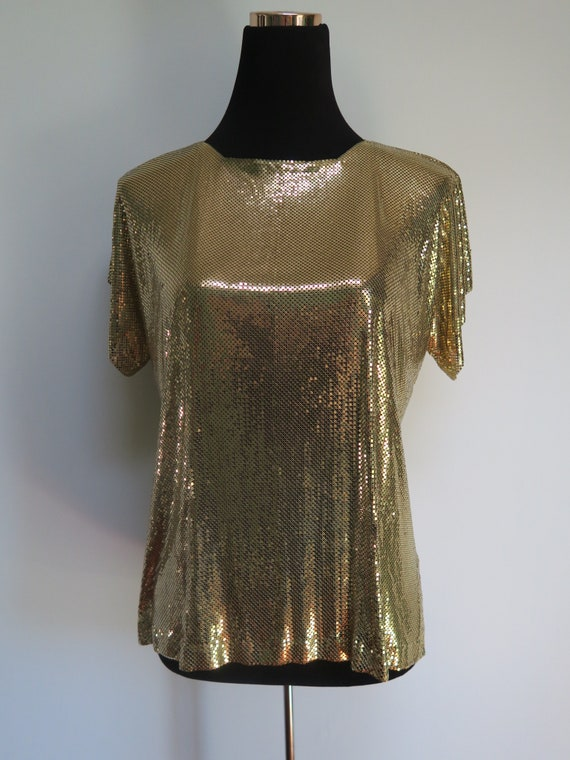 Vintage Whiting and Davis Gold Metal Top