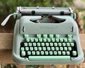 Hermes 3000 Cursive Script RARE Vintage Typewriter, Case, and Extras from 1963