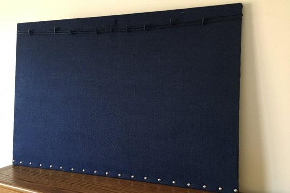 Large Dark Blue Linen Covered Display Board
