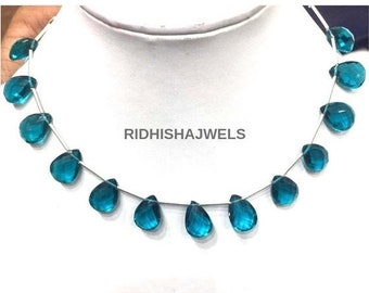 8594bf148744 Mothers Day Sale 1 Pcs Blue Topaz Hydro Pear Drop Necklace