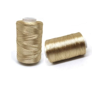 2 Pcs Silk Thread For Jewelry Making Embroidery Tassel Making Wholesale Price Shiny Soft Thread Spools Crafts 1000 Yards Spool