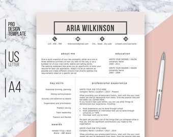 professional resume template instant download creative resume resume template resume template pink resume template word