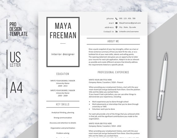 3 Page Resume.Resume Template Word 3 Page Resume Resume Template Creative Resume Cv Design Professional Resume Resume Template Instant Download