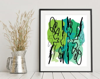 Rain Forest Abstract Print