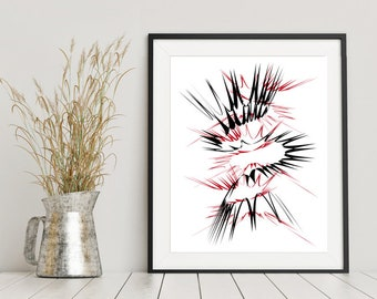 Pompeii Abstract Print - Number 1