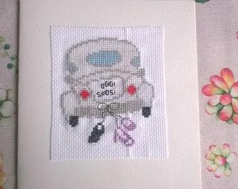 12dca46a371d Cross stitch card per giorno delle nozze