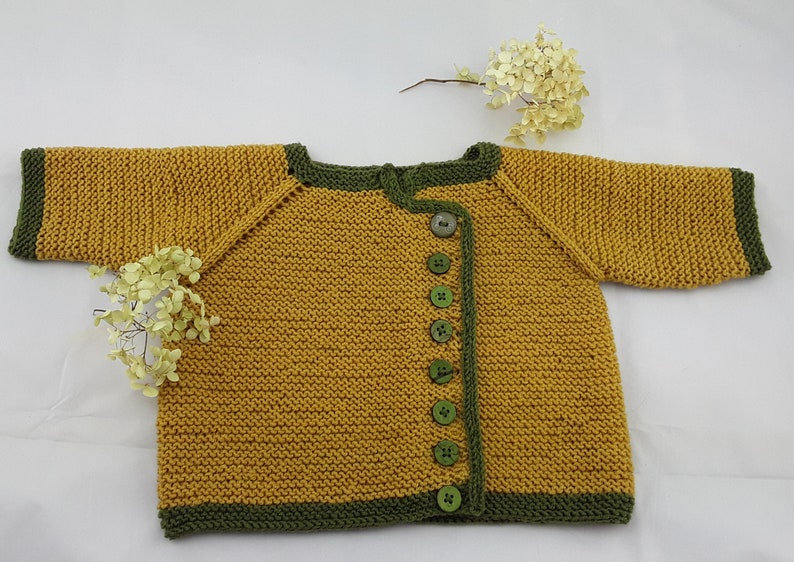 Baby jacket hand knitted