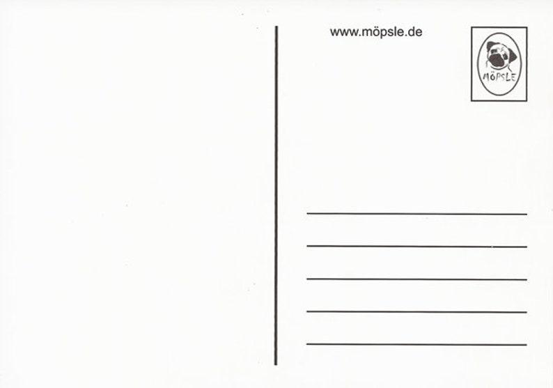 Birthday Card of M\u00f6psle-Despite wrinkles well preserved-Pug-Pug
