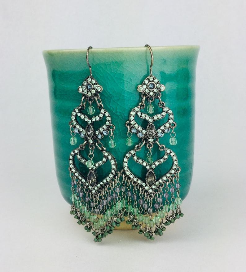 Vintage Chandelier Jeweled Earrings