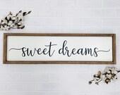 Sweet Dreams Master Bedroom Decor Large Wood Sign