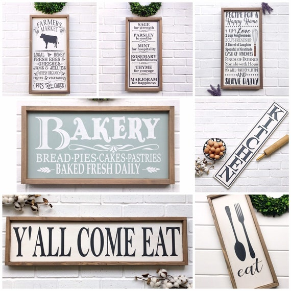 Eat Sign For Kitchen Joanna Gaines Inspired Decor