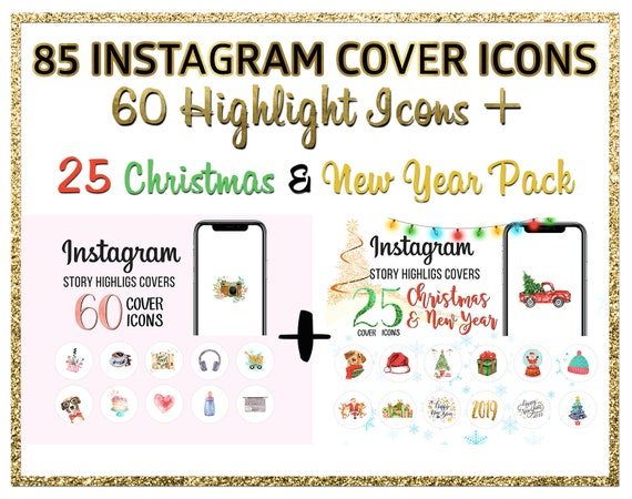 Christmas Icon For Instagram Highlights.Highlight Icons Christmas Icons Instagram Cover Icons
