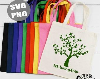 Let Love Grow Trees Baby Gerber Organic Holiday Handmade Onesie