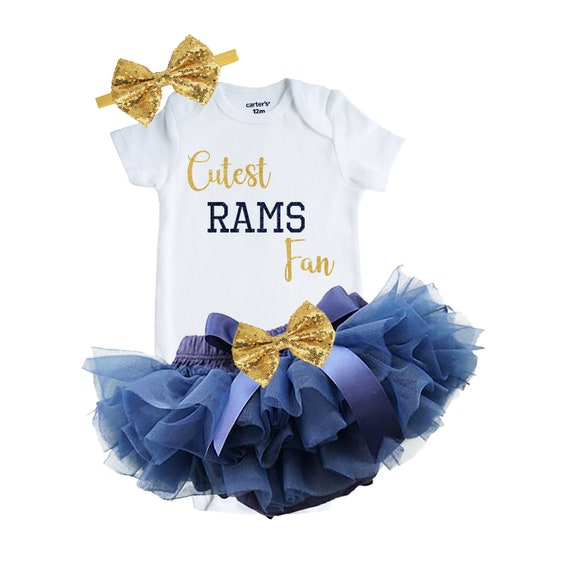 Rams Custom Shirt Los Angeles Rams Baby and Toddler Girl/'s Outfit Rams Baby Shower Gift Cute Baby Shower Gift Newborn Rams Fan Outfit