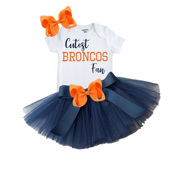 Broncos Bow Broncos Birthday Girl Fan Outfit Denver Broncos Baby and Toddler Outfit Broncos Fan Broncos Girl Newborn Broncos Fan Outfit