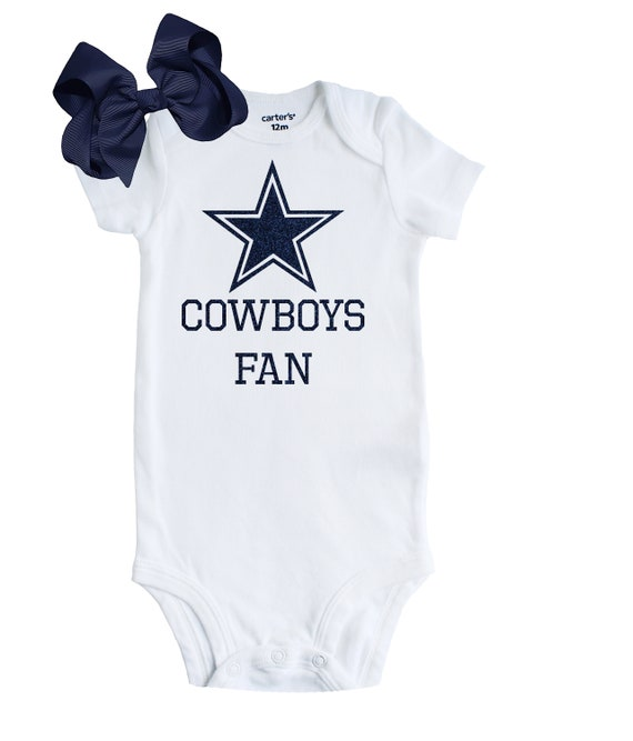 online store 9054b f8276 Dallas Cowboys Baby Outfit, Newborn Cowboys Fan Outfit, Dallas Cowboys Fan  Baby Shower Gift, Dallas Cowboys Baby, Dallas Cowboys Girl, Bow