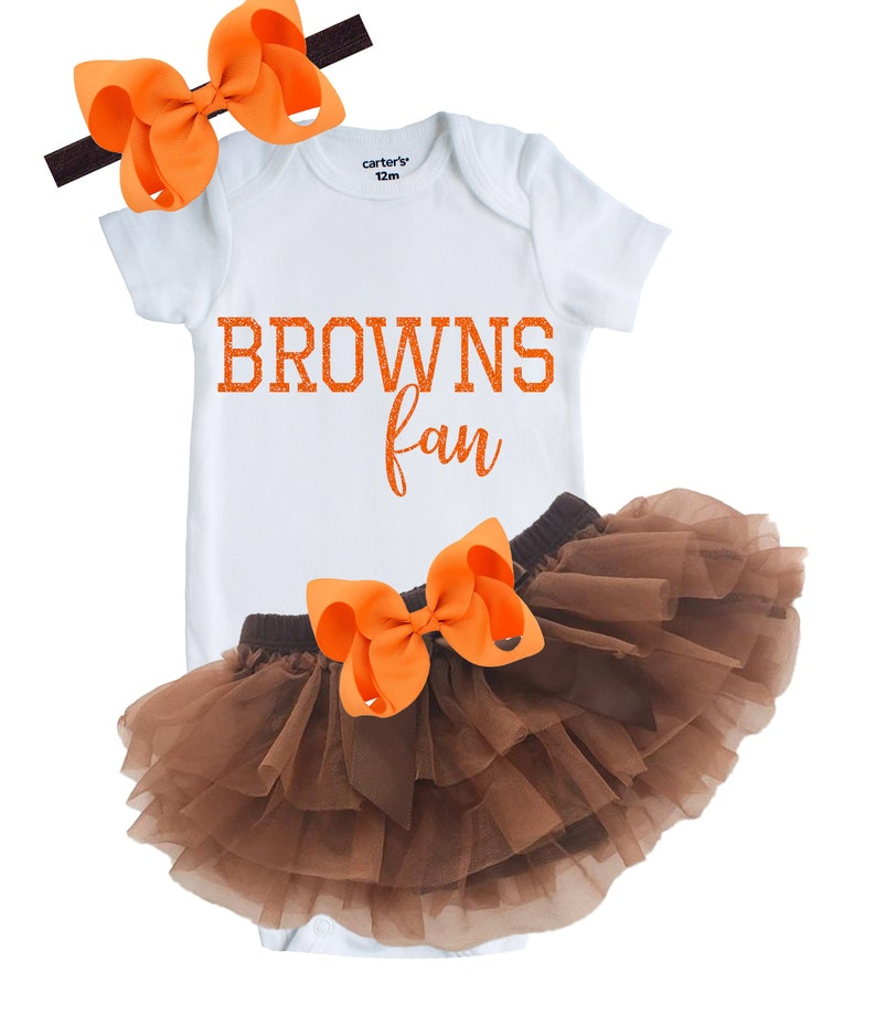 finest selection 6e44b 3fd5b Cleveland Browns Baby and Toddler Outfit, Newborn Browns Fan Outfit, Browns  Fan Shower Gift, Browns Baby, Browns Girl, Browns Bodysuit, Tutu