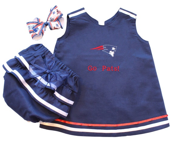 super popular 3d08b f4502 Baby NFL Outfit, New England Patriots Baby Outfit, Patriots Baby Dress,  Patriots Baby Gift, Baby Patriots Fan, Baby Girls Patriots Outfit