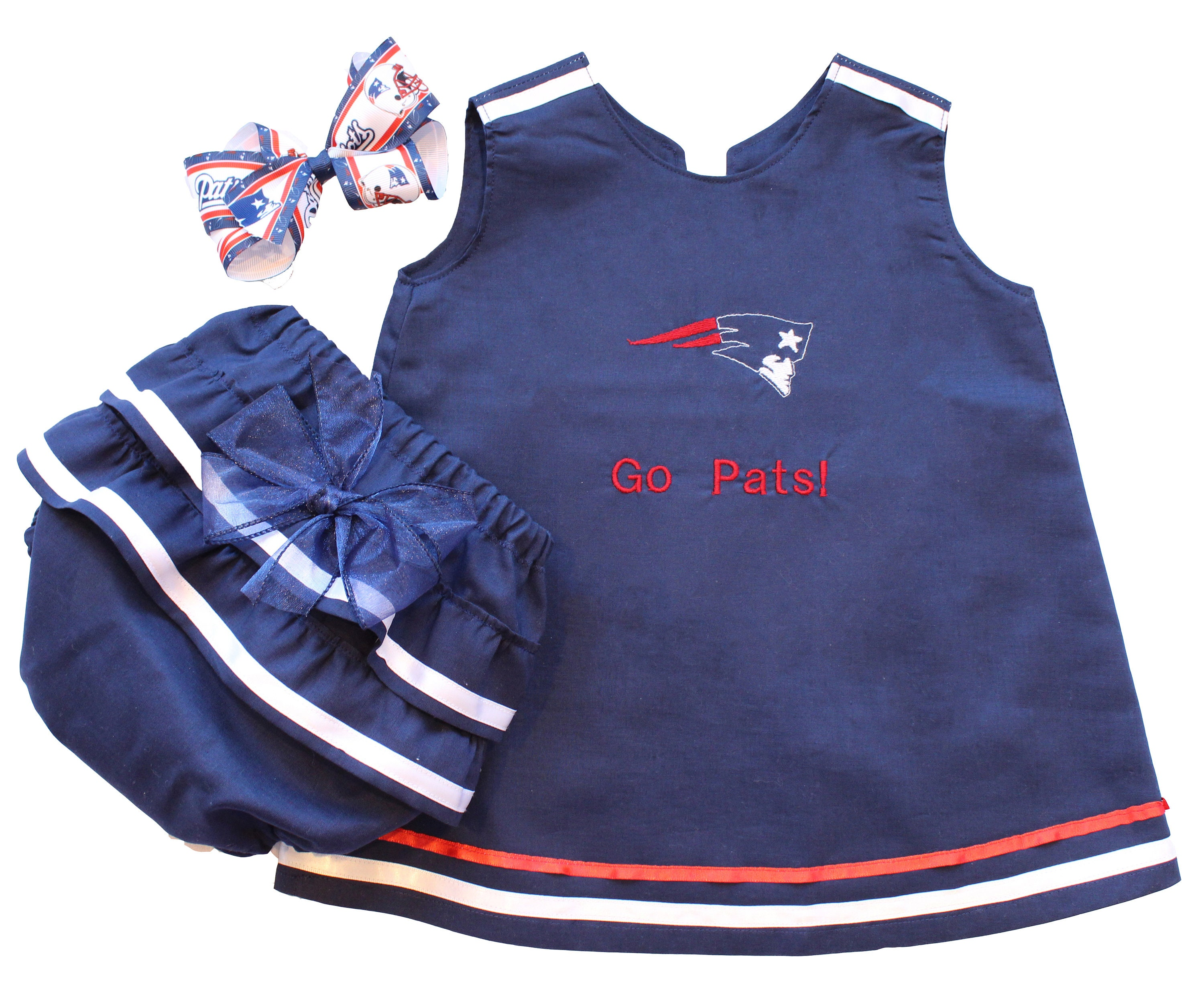 super popular 4c45e e9868 Baby NFL Outfit, New England Patriots Baby Outfit, Patriots Baby Dress,  Patriots Baby Gift, Baby Patriots Fan, Baby Girls Patriots Outfit