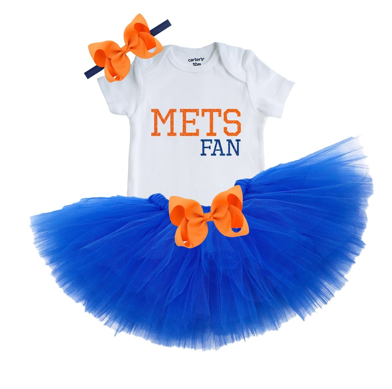 lowest price 8ac33 69b54 New York Mets Baby Girl Tutu Outfit, New York Mets Girl's Outfit, New York  Mets Tutu, New York Mets Newborn Outfit, New York Mets Fan Gift