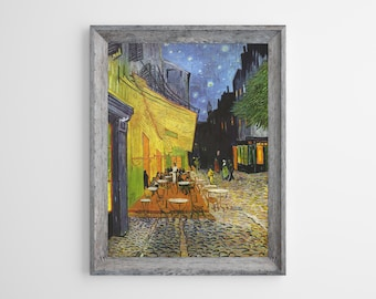 Realism 1888 VAN GOGH Post-Impressionism Art Poster Cafe Terrace at  Night