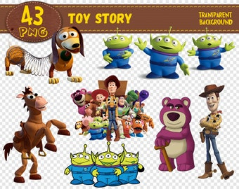 Toy Story Clipart Characters Png Printable Digital Print Transparent Backgrounds Instant Download