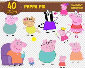 image about Peppa Pig Character Free Printable Images named Peppa pig printable Etsy