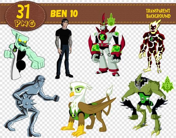 Ben 10 Clipart Ben 10 Characters Ben 10 Png Printable Digital Clipart Digital Print Transparent Backgrounds Instant Download