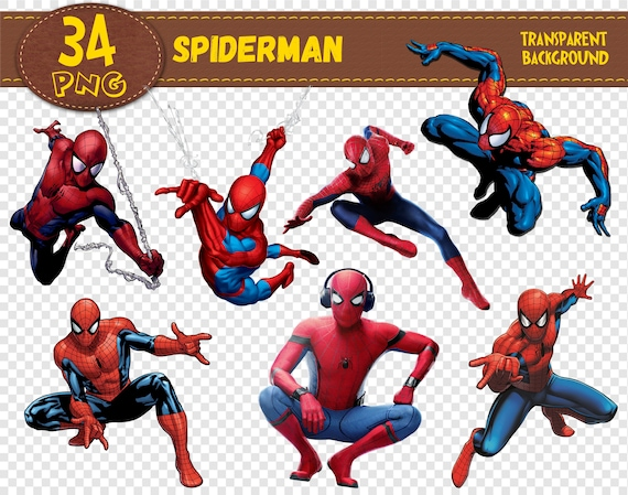 Spiderman Clipart Spiderman charactersSpiderman | Etsy