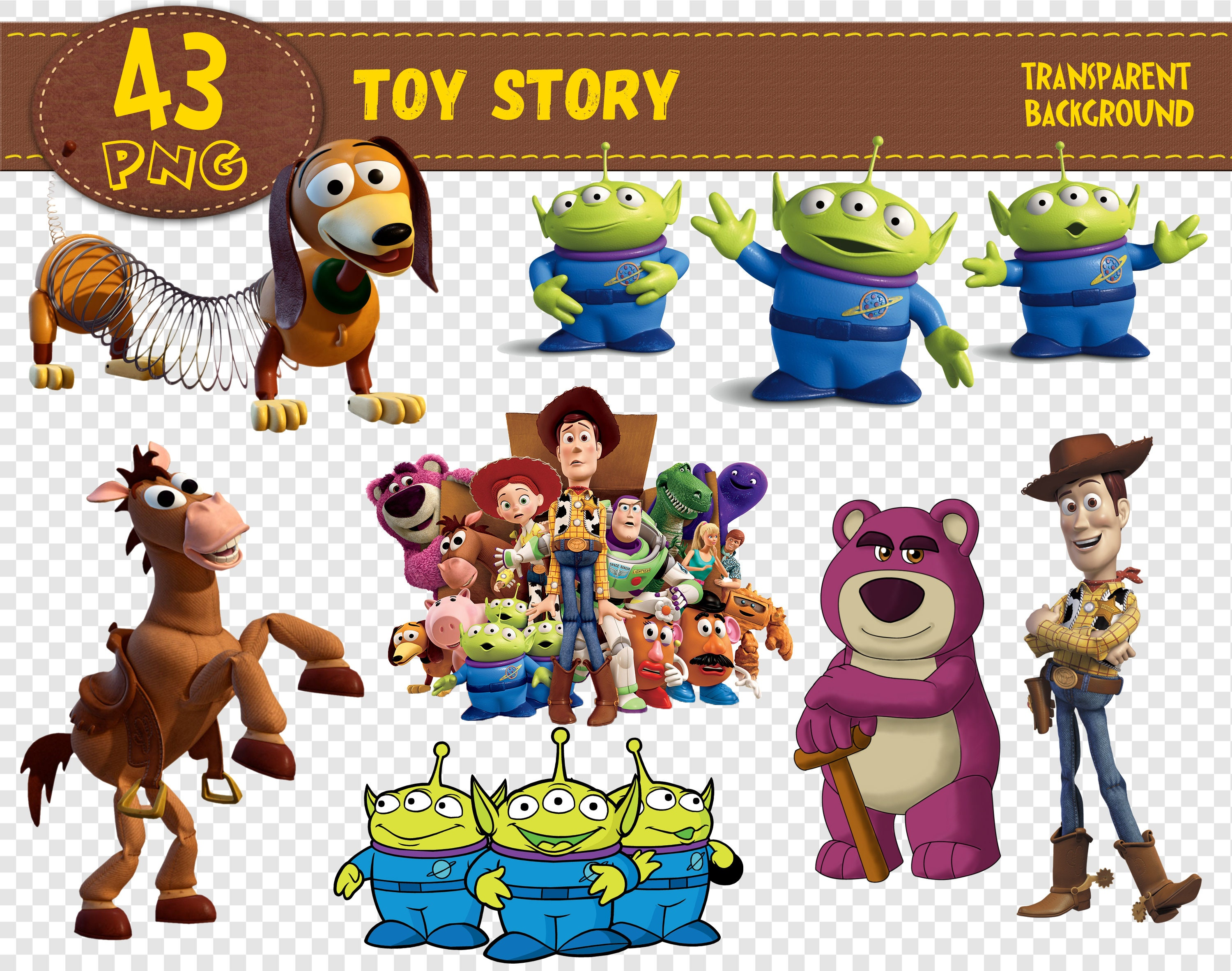 Toy Story Clipart Toy Story characters Toy Story png | Etsy