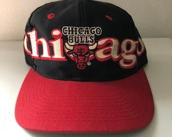 Vintage Chicago Bulls Logo 7 Snapback Hat 2d96dcd3de3