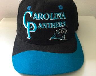 hot sales 9a0bd ea698 ... shopping vintage carolina panthers snapback hat 6101e c69ab