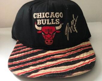 698fb6d0950510 Vintage Chicago Bulls Michael Jordan AJD Zubaz Snapback Hat