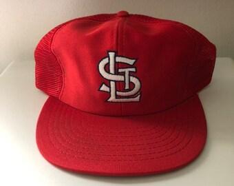 9c8f75307742 Vintage St. Louis Cardinals Trucker Snapback Hat