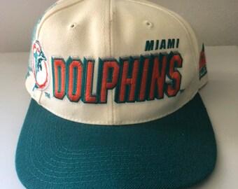 785dd730cd6 Rare Vintage Miami Dolphins Sports Specialties Shadow Snapback Hat