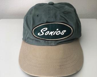 46399144b87 Vintage Seattle SuperSonics Starter Dad Hat