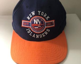 new styles c079f ef779 Rare Vintage New York Islanders Pro Player Snapback Hat (Misprint)