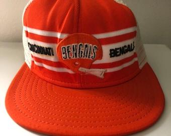 35651785 Rare Vintage Cincinnati Bengals Trucker Hat By AJD